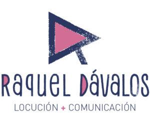 Logo Raquel Dávalos, locutora online. Creado por Mastres Comunicación