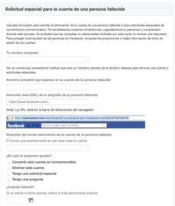 Cómo solicitar la eliminación de una cuenta de Facebook de un fallecido